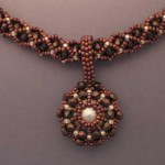 Rust and Silver Necklace