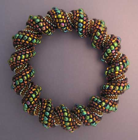 spiral bracelet with tubular peyote