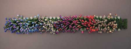 Monet's Garden Bracelet - showing colors