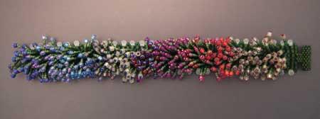 Monet's Garden Bracelet - showing colors