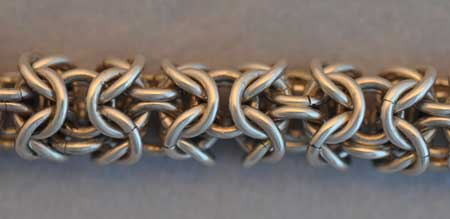 Triple Byzantine Weave detail