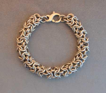 Triple Byzantine Weave Bracelet