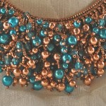 Copper and Blue Necklace